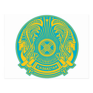 Kazakhstan coat of arms postcard