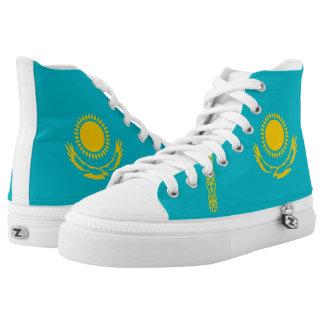 Kazakhstan country flag symbol nation printed shoes