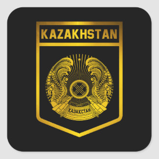 Kazakhstan Emblem Square Sticker