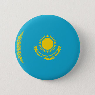 Kazakhstan Fisheye Flag Button