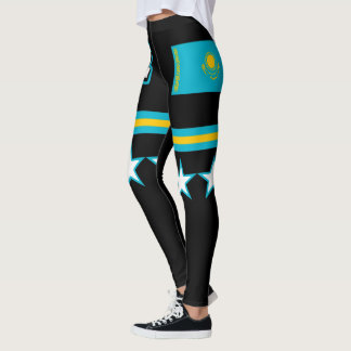 Kazakhstan Flag Leggings