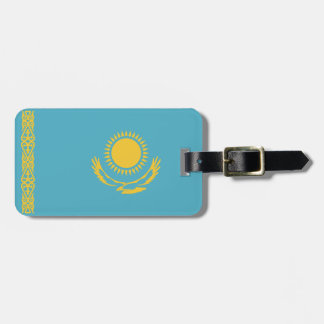 Kazakhstan Flag Luggage Tag