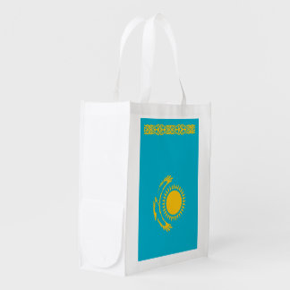 Kazakhstan Flag Reusable Grocery Bag