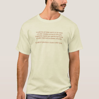 Kazakhstan, greatest country in th... - Customized T-Shirt