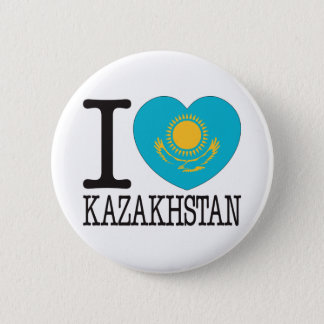 Kazakhstan Love v2 6 Cm Round Badge