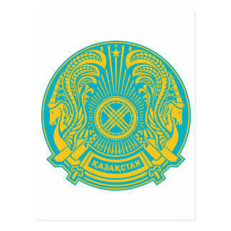 Kazakhstan Official Coat Of Arms Heraldry Symbol Postcard
