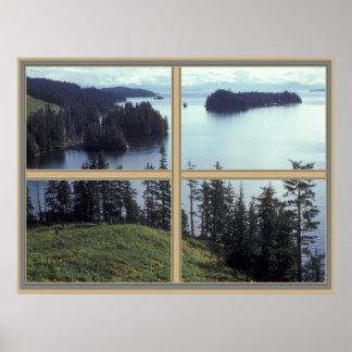 Kazakof Bay Alaska Poster