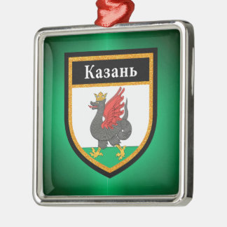 Kazan Flag Metal Ornament