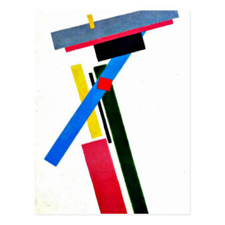 Kazimir Malevich art: Suprematism Construction Postcard