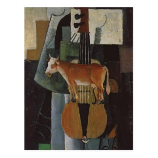 Kazimir Malevich- Cow and Fiddle Postcard