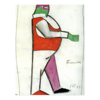 Kazimir Malevich- Fat Man Postcard