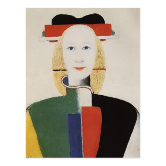 Kazimir Malevich- Girl with a Comb in her Hair Postcard