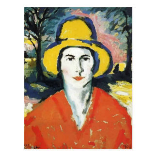 Kazimir Malevich- Portrait of Woman in Yellow Hat Postcard