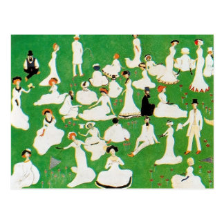 Kazimir Malevich- Rest. Society in Top Hats Postcard