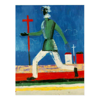 Kazimir Malevich- The Running Man Postcard