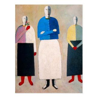 Kazimir Malevich- Three Girls Post Card