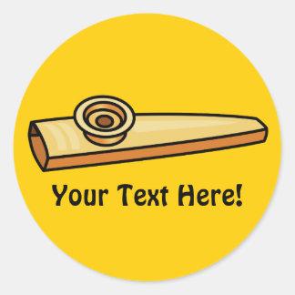 Kazoo Round Sticker