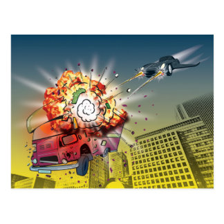 K'Barthan Series 1-4: Oops Trev's wheels get fried Postcard