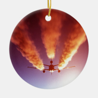 KC-10 refueling aircraft Ceramic Ornament