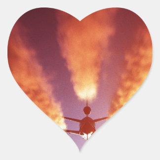KC-10 refueling aircraft Heart Sticker