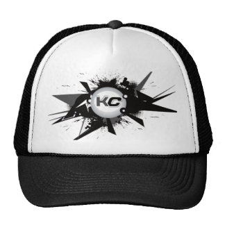 KC Black White Trucker Hats