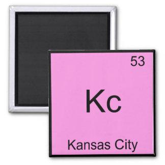 Kc - Kansas City Chemistry Element Symbol Tee Square Magnet