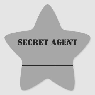 KC's Secret Agent Name Sticker