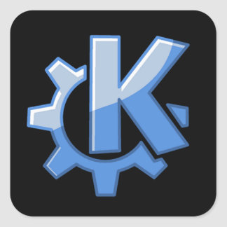 KDE Linux Square Sticker