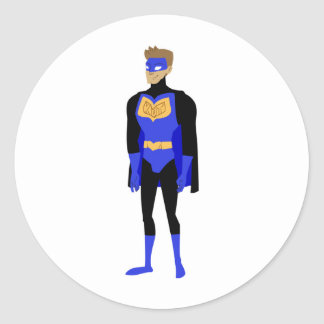 KDT Man Super Hero Round Sticker
