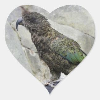 Kea: The Alpine Parrot Heart Sticker