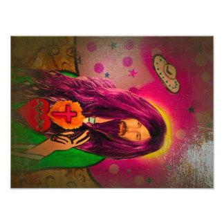 Keanu Jesus Antique Oil Look Print Photograph