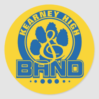 Kearney High Band 3-inch Stickers