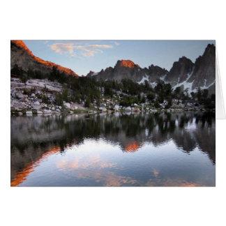 Kearsarge Lake Sunset - Sierra Nevada Card