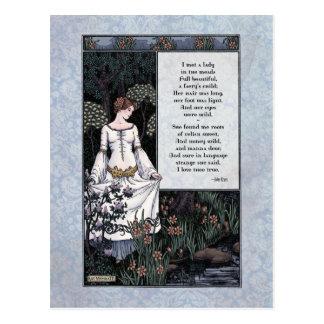 """Keats """"La Belle Dame"""" Victorian Postcard"""