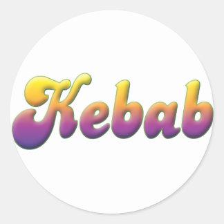 Kebab Classic Round Sticker
