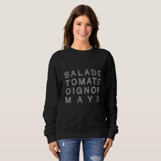 KEBAB MAYO in white (women's sweater) Sweatshirt