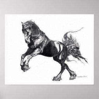 Keegan Jewel Friesian Stallion Poster