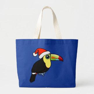 Keel-billed Toucan Santa Large Tote Bag