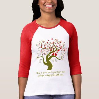Keep A Green Tree In Your Heart Red Birds & Notes T-Shirt
