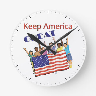 Keep America Great Adult Parade Round Clock