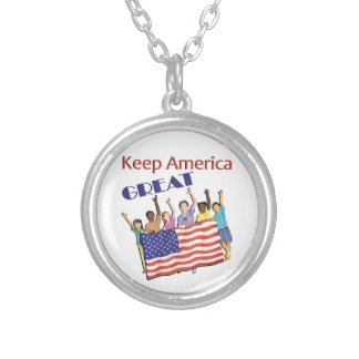 Keep America Great Adult Parade Silver Plated Necklace