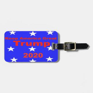 Keep America Great...Trump 2020 Political Slogan Luggage Tag