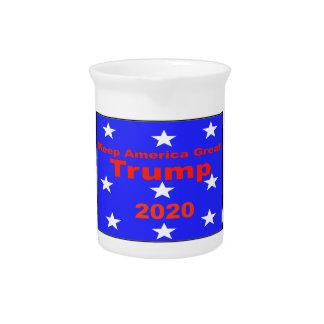 Keep America Great...Trump 2020 Political Slogan Pitcher