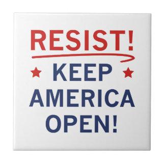 Keep America Open Ceramic Tile
