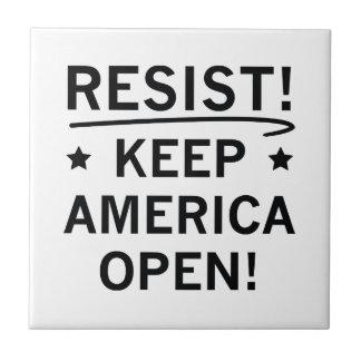 Keep America Open Tile