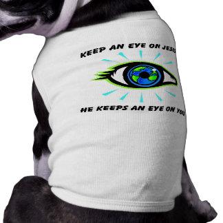 Keep an eye on Jesus christian gift Sleeveless Dog Shirt