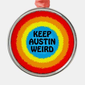 Keep Austin Texas Weird Christmas Tree Ornament