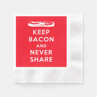 Keep Bacon and Never Share Disposable Serviette