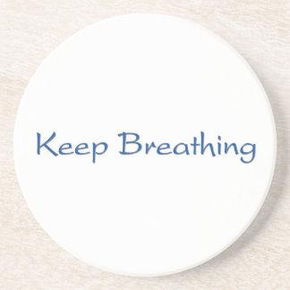 Keep Breathing Coaster