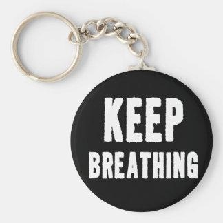 Keep Breathing for Yoga & Meditation Key Ring